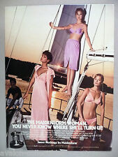 Sweet Nothings Lingerie by Maidenform PRINT AD - 1981 ~~ sailboat at sunset