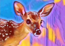 Fawn Deer ACEO Print Baby Doe wildlife animals digital original