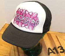 ROCKSTAR ENERGY DRINK SNAPBACK HAT MESH BACK BLACK/WHITE VERY GOOD COND A13