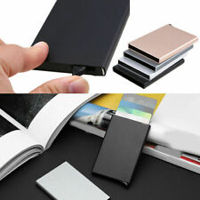Stainless Steel Business ID Credit Card Wallet Holder Metal Pocket Case Box New