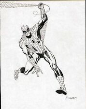 AL MILGROM SPIDERMAN ORIGINAL ART FULL FIGURE PINUP PAGE DRAWING EARLY 1980's Comic Art