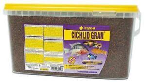5 Litre Tropical Cichlid Gran Granulate 5000 ML Barschfutter Food