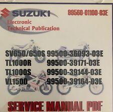Suzuki Service Manual Cd-Rom Sv650 - Tl1000 - Vl1500