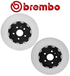 Pair Set of 2 Disc Brake Rotors Floating Coated Brembo For CTS V Camaro SS ZL1