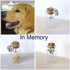 PET DOG MEMORIAL URN VASE - CREMATION ASHES, SNIPPET OF HAIR/FUR  ETC. 4cm tall