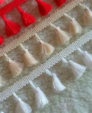 CREAM 3.5cm Trim Tassel Fringe Cotton Lace Ribbon Price per 30cm DIY Craft