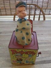 1953 Vintage Popeye Jack in the box with Pipe Popeye the Sailorman MATTEL  LA.