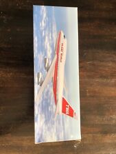 TWA B747SP 1/200 model with stand.