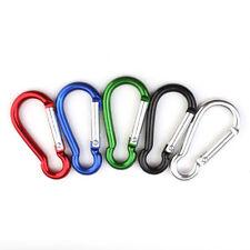 hot sale Aluminum Carabiner D-Ring Key Chain Clip Hook Nonlocking Carabiners 3pc