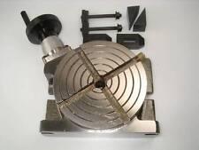 """4"""" 100 mm tavola rotante per tornio o fresatrice da CHRONOS con morsetti"""