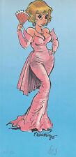 F. Walthéry ex libris natacha en robe de soirée !
