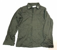 Vintage Italian army surplus cotton olive green field jacket