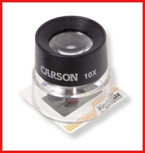 Carson 10x LumiLoupe Stand Magnifier Loupe