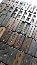 Letterpress:wood letter printing blocks,FONT,woodtype lot,wooden type alphabet