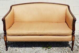 Hickory Chair James River Mahogany Sheraton Style Settee Sofa Loveseat