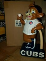 """Chicago Cubs """"Clark"""" Mascot Figurine or Garden Statue by Evergreen 12"""" Resin"""