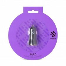 Dual 12-24v USB Car Charger - Purple