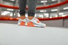 Nike Air Max 90 Mens White Grey Orange Black Shoe Trainer All Sizes