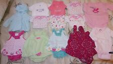 Mixed lot Infant Girls Clothing size NB - 3 months Shirts, Tops, Rompers