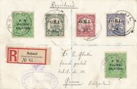 PNG620) New Guinea 1916 NWPI/GRI combination reg'd/Censored small cover