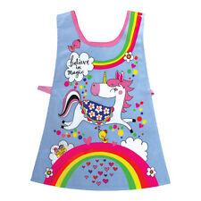 & Unicorno Arcobaleno Per Bambini Tabard-Grembiule di Cotone Pulire PVC Rachel Ellen