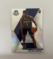 2019-20 Mosaic Silver Zion Williamson Prizm Rookie RC Holo Refractor SP #209 NM+