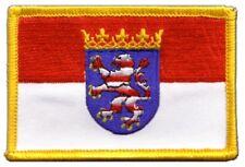 Deutschland Hessen Aufnäher Flaggen Fahnen Patch Aufbügler 8x6cm
