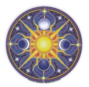 Mandala Art Celestial sun star moon window Sticker 2-sided indoor outdoor pagan