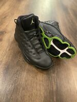 2017 Nike Air Jordan Retro 13 XIII Altitude 414571-042 Black Green Silver Sz 11