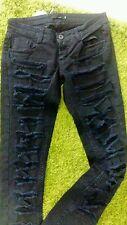 Jeans pantalone Nero con strappi Denny Rose XS