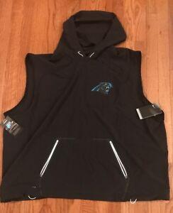 Carolina Panthers Nike Sideline Fly Rush Sleeveless Hoodie Vest NWT Medium $150