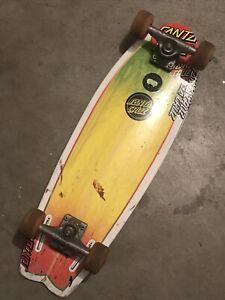 vintage Santa Cruz SC Land Shark Skateboard Deck Bullet Trucks Bottle Opener
