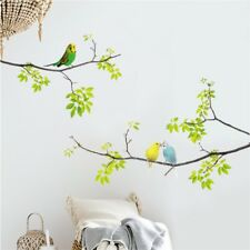 Parrot Lover Bird On Green Branch Tree Wall Art Sticker Nature Living Room Decal