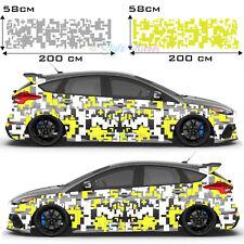 Aufkleber Pixel Matrix Cyber Auto Tattoo Decor Sticker Tuning Style 2-Farbig S35