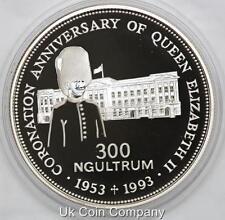 1993 Kingdom Of Bhutan Silver Proof 300 Ngultrum Coin