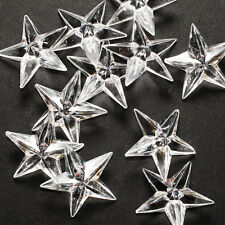 24pk Clear Acrylic Stars Table Scatter Confetti Filler Wedding Party Decoration