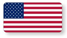 American Flag Old Glory Hard Hat Decal / Motorcycle Helmet Sticker / Vinyl Label