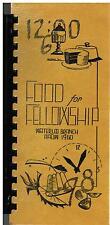 *WATERLOO IA 1960 ANTIQUE *AAUW CLUB COOK BOOK *FOOD FOR FELLOWSHIP *IOWA *LOCAL