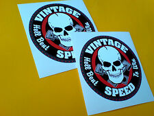 VINTAGE SPEED All TT Moto GP fans Classic Car Motorcycle Stickers 2 off 85mm