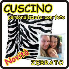 CUSCINO QUADRATO ZEBRATO personalizzato con foto!!!