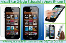 2 x Kristall Klar Display Schutz Folie Apple iPhone 5 5S Folienset clear Zubehör