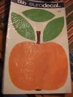 Vintage Retro BSB EURODECAL TRANSFER Giant Orange Apple