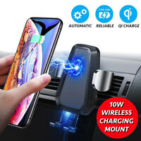 Qi Wireless Car Charger VICSEED Fast Charging Phone Holder Automatic Car Mount