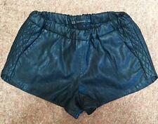Zara Ladies Shorts woman Faux Leather Elasticated Waist Summer Beach size 6/8