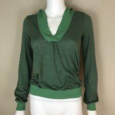 Ella Moss Women's Size S Top Green Lightweight Hoodie Shirt