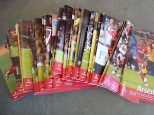 Full Season of Arsenal 2007-08  home programmes - 28 programmes in all