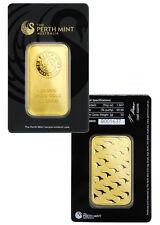 Australia Perth Mint 50 Gram .9999 Gold Bar -Sealed w/Assay Certificate SKU30315