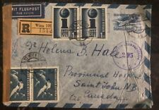 1953 Vienna Austria Censored Airmail Cover to St Johns Canada