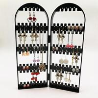 Jewelry Display Organizer Plastic Earrings Holder Stand Folding Table Decoration