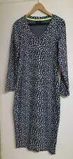 Animal Print winter Dress Size 12 F&F Wiggle black And White Leopard VGC MIDI